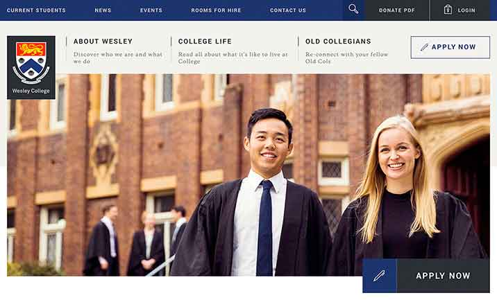 Wesley College website