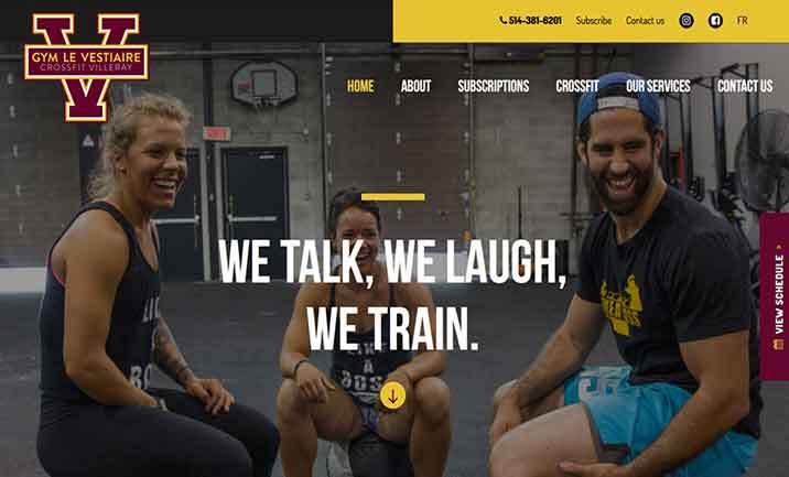 Gym le Vestiaire website