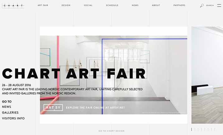 Chart Art Fair website