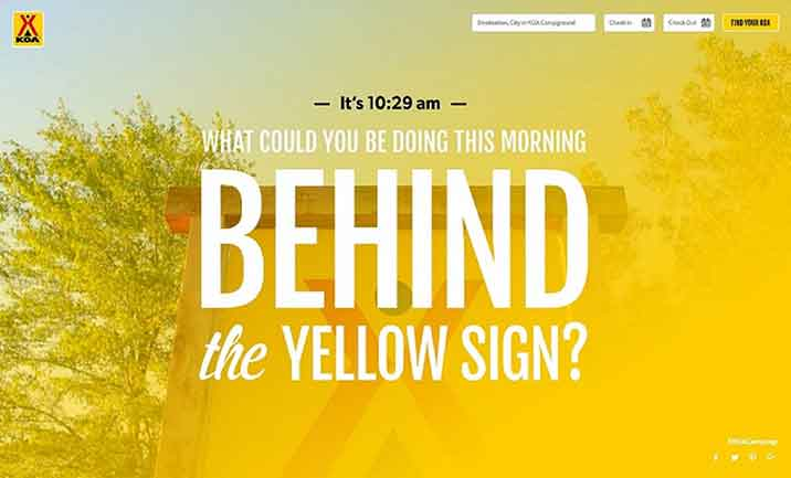 What's Happening Now Behind the Yellow Sign? website