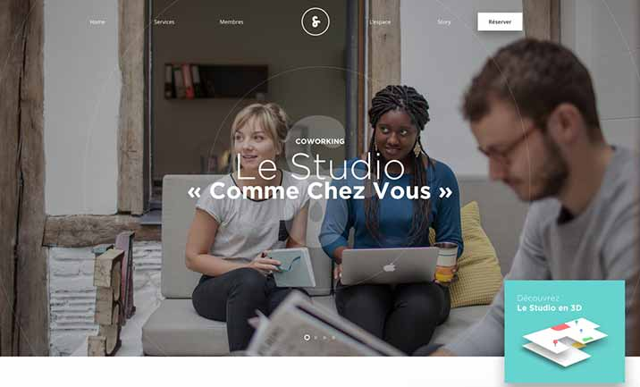 Le Studio website