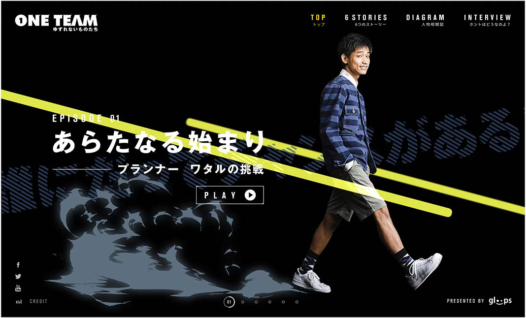 gloops special drama ONETEAM website