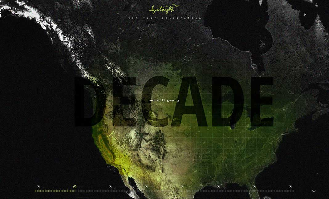 Decade in Design website