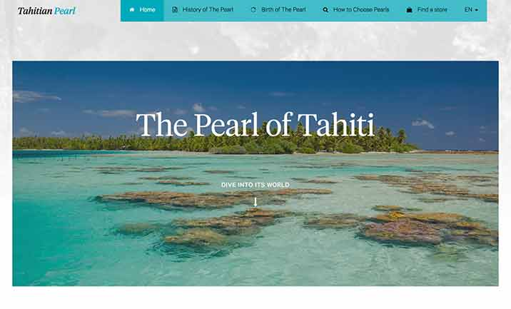 Tahitian Pearl website