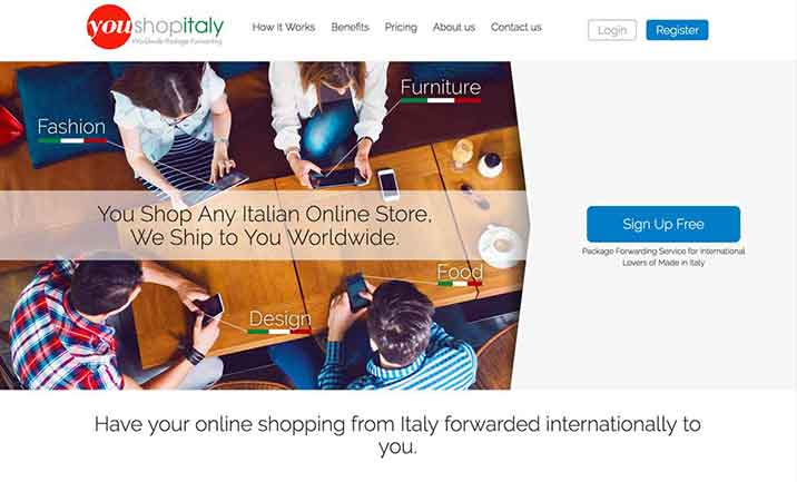 YOUSHOPITALY website