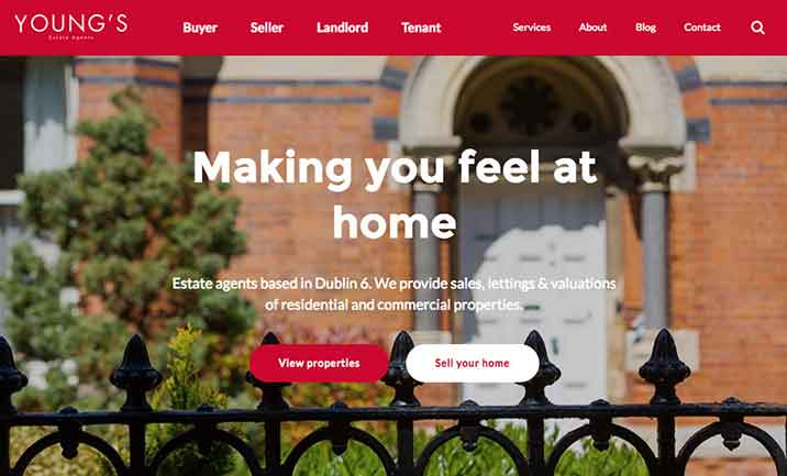 Young's Estate Agents website