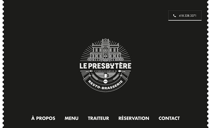 Le Presbytère website