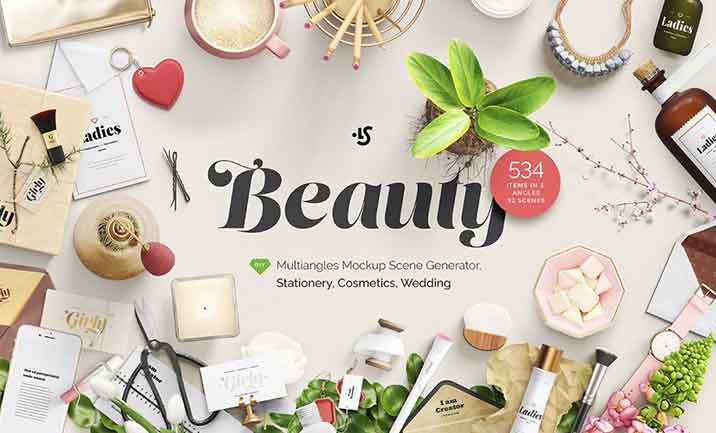 Beauty Mockup Scene Generator website