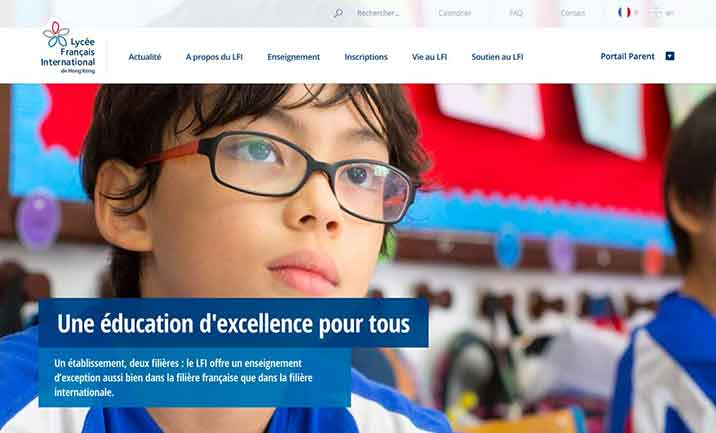 French International School website