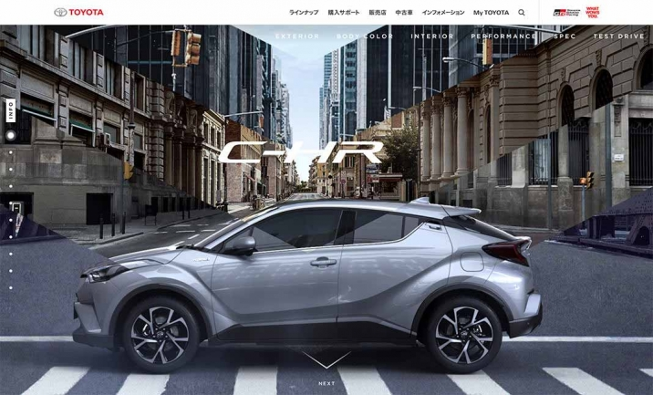 TOYOTA C-HR website