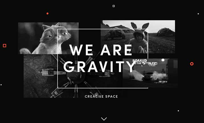 Gravity Creative Space website