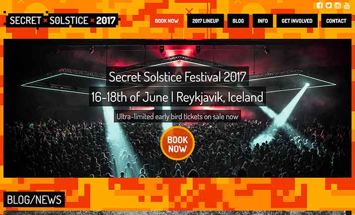 Secret Solstice website