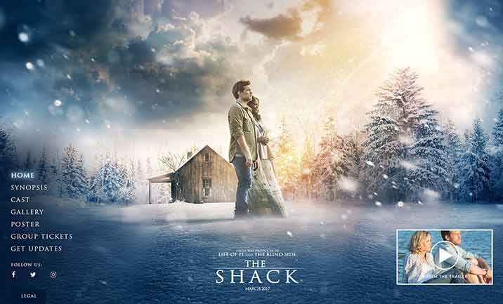 The Shack Theatrical Website website