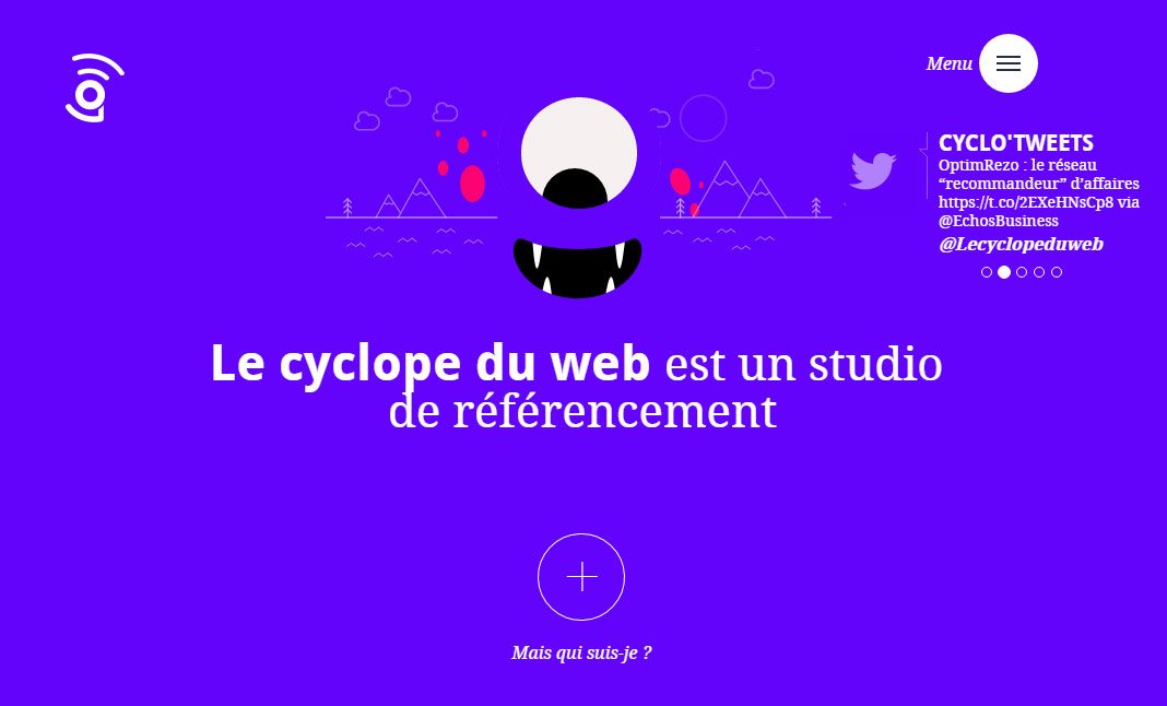 Le Cyclope Du Web website