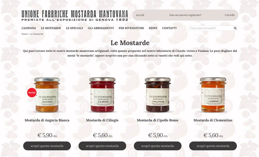 The Italian Mustard Paradise website