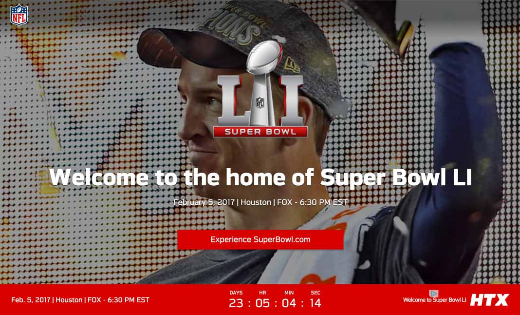 Super Bowl LI website