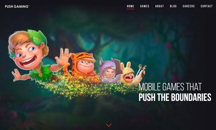 Push Gaming website