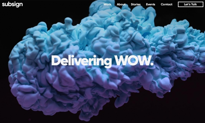 Subsign | Delivering WOW website