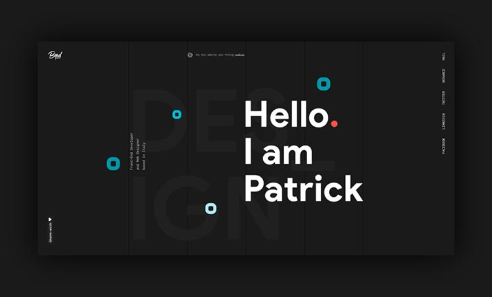 Bepatrickdavid website