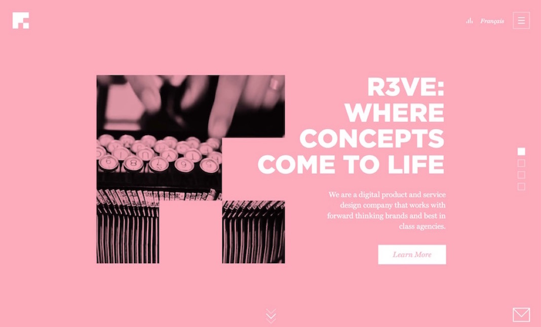 R3VE Service and Product Design  website