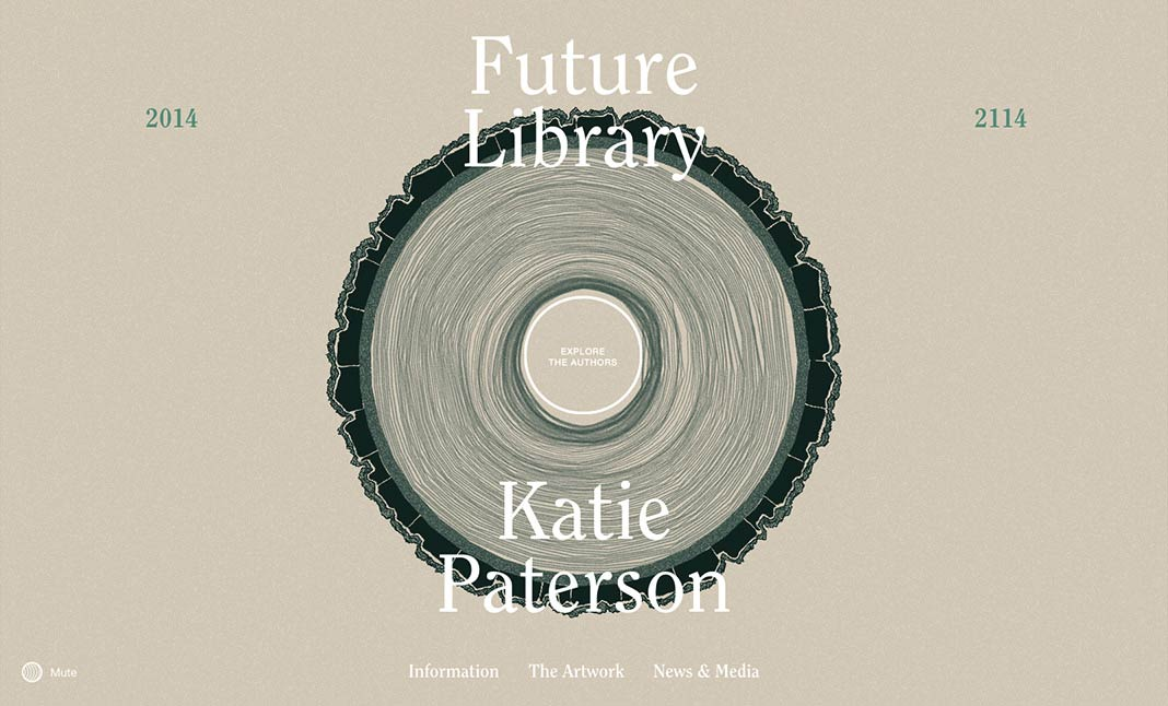 Future Library 2014 — 2114 website