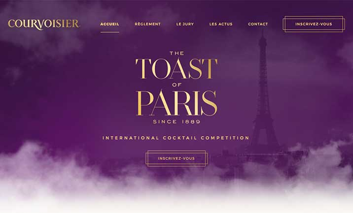 Toast Of Paris - Courvoisier website
