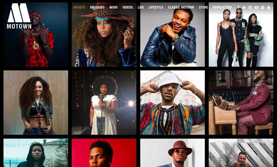 Motown Records website