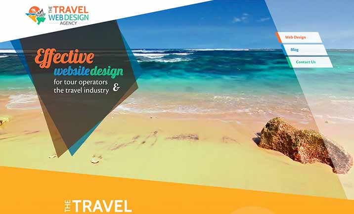 The Travel Web Design Agency website