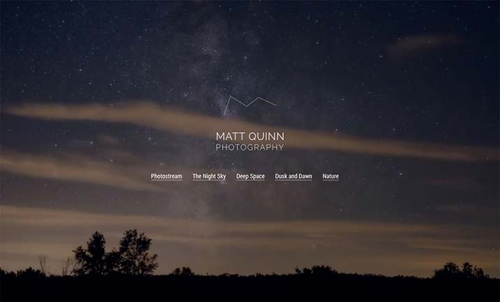 Matt Quinn Photography website