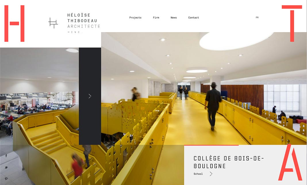 Héloïse Thibodeau Architecte website
