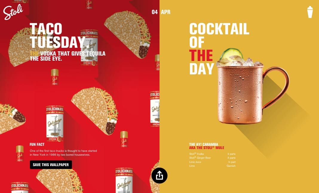 Celebrate with Stoli  website