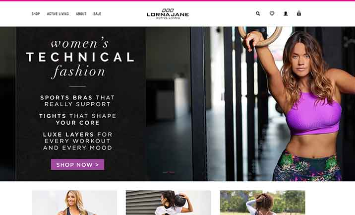 Lorna Jane website