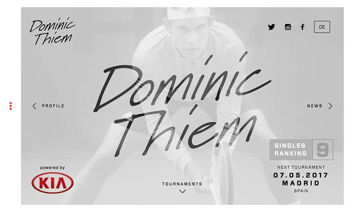 Dominic Thiem website
