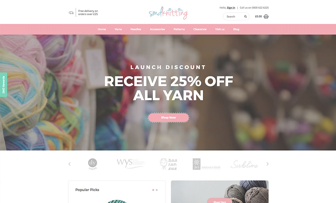 SMD Knitting website