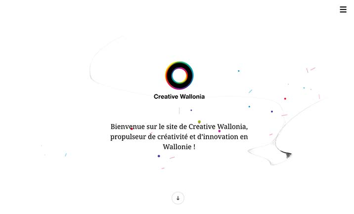 Creative Wallonia website