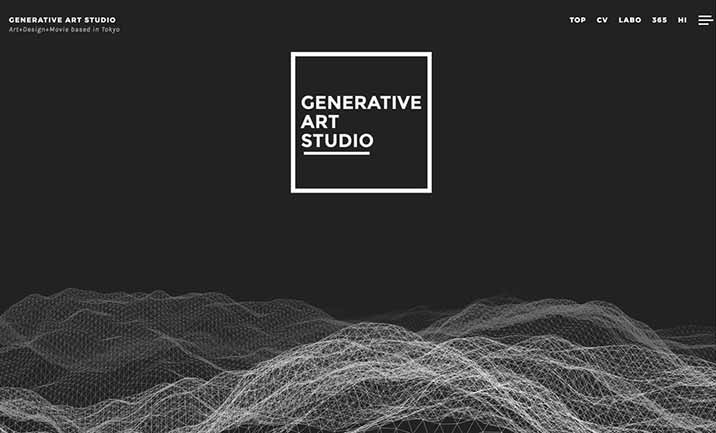 Generative Art Studio website