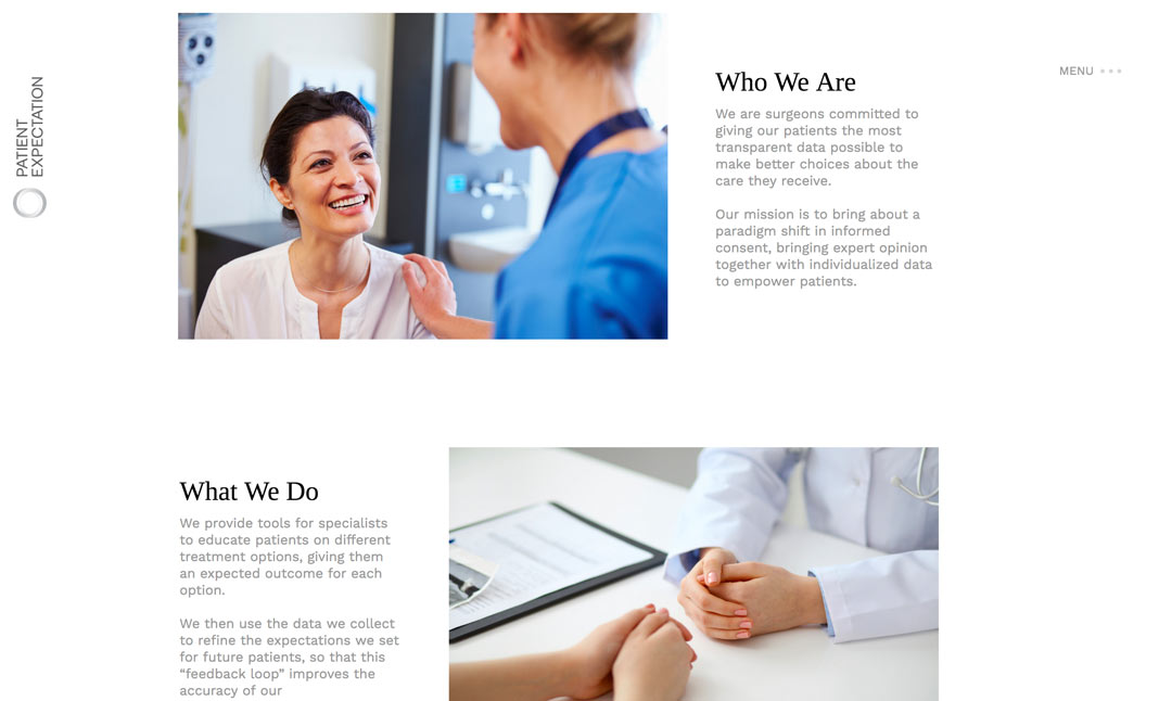 Patient Expectation website
