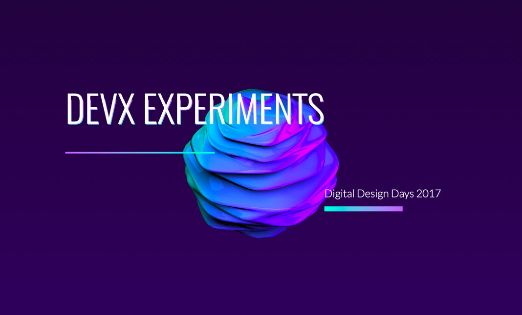 DEVX Experiments - DDD 2017 website
