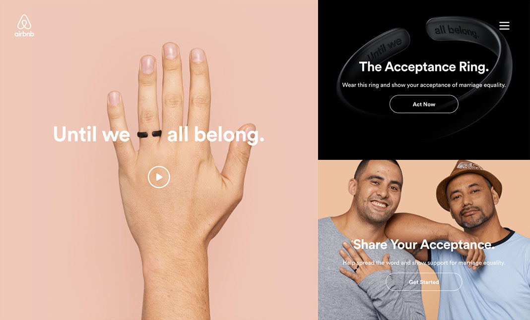 Airbnb - Until We All Belong website