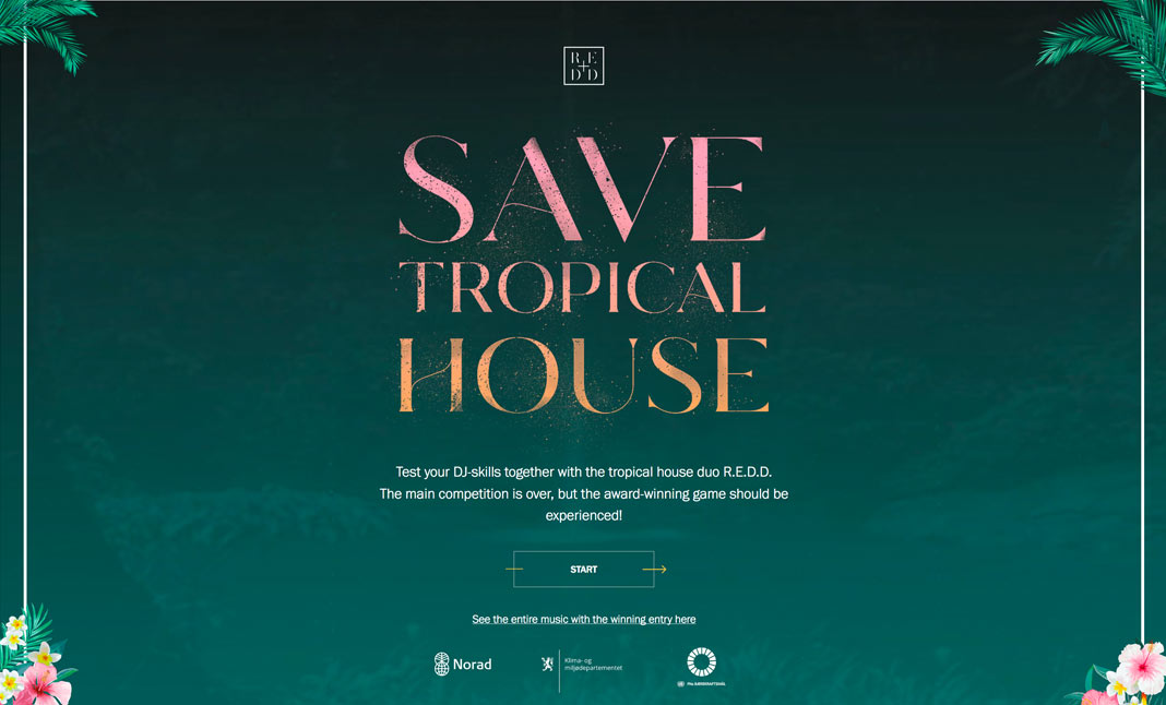 Save Tropical House website
