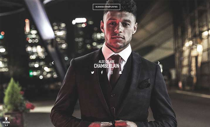 Alex Oxlade-Chamberlain website