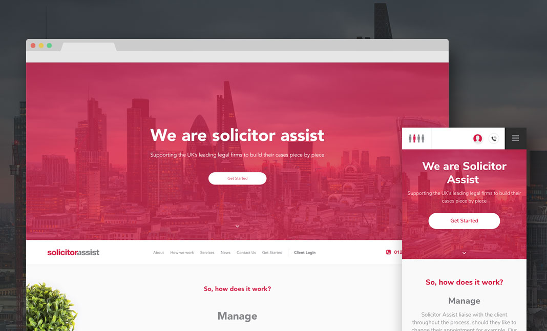 Solicitor Assist website