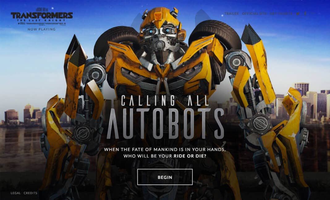 Calling All Autobots website