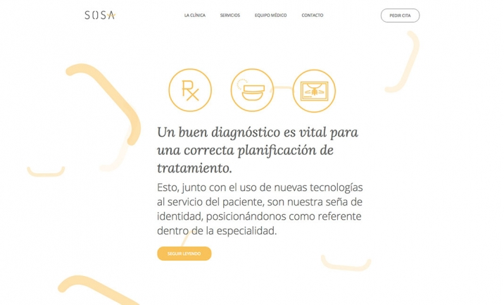 Clínica Dental Sosa website