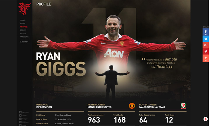 Ryan Giggs website