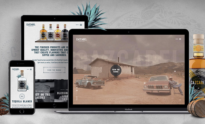 Cazcabel Tequilla website