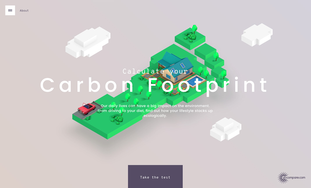 Carbon Footprint Calculator website