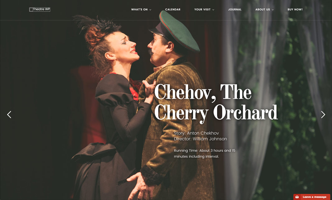 Theatre WP Theme website