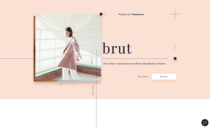 Brut Portfolio Wordpress Theme
