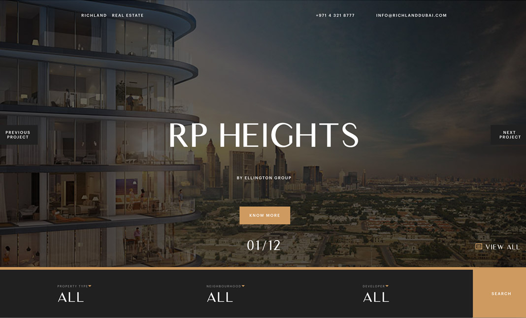 Richland Real Estate website